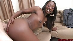 Petite ebony Taylor Starr hammered by monster white cock