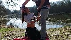 First blowjob - Desire at the lake
