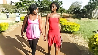 African Lesbian Girlfriends Eat Pussy