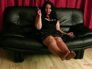 Pantyhose smoking cosmopolitan Alisa footplay and smoking