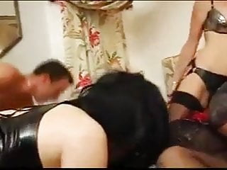 Teen crossdresser sex Man and woman fucks crossdressers together 02