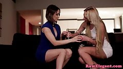Classy lesbian ass and pussy toyed by escort
