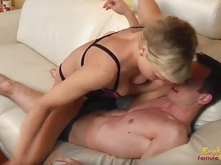 Full pussy wimp husband Hotwife full of muscle take control on her husband