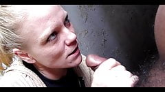 Billige Prostituierte Katie bläst schwarzen Schwanz