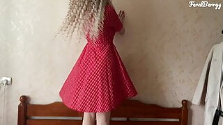 White ass in a red dress loves anal. FeralBerryy