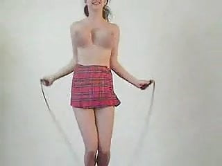 Japanise boobs fun - Skipping rope big boobs fun