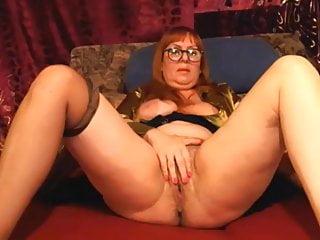 Masturbation sound clips - Horny 54 year old milf masturbating on webcam no sound