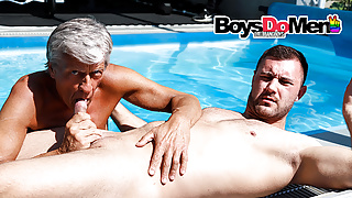 Old Frank Plays with Fresh Cock at BoysDoMen