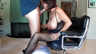 Stunning and sexy amateur wife pleasing her boss