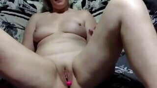 Russian woman gets naked for the first time on camera