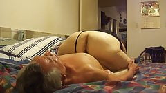 Licking granny's big Pussy