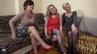 Group sex with grannies and lucky boy