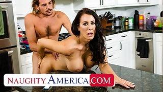 Naughty America - Hot StepMom Reagan Foxx fucks and sucks