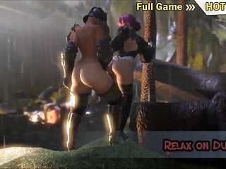 Depository sex story 3d animation - shemale knight fucks girl, futanari sex story