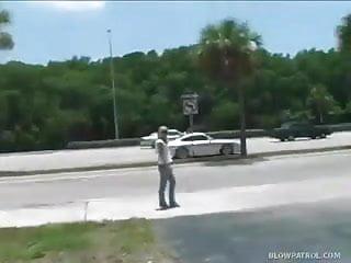 Hot cops nude - Hot blonde sucks cops cock in the back seat