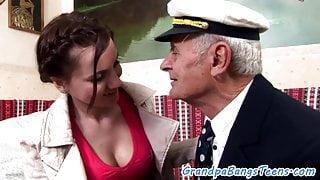Cocksucking babe pleasures seniors dick