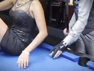 Cum flying high shot Sexy pool trick shots