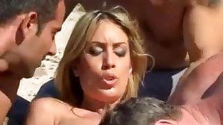 virgin girl gangbanged hard at the beach