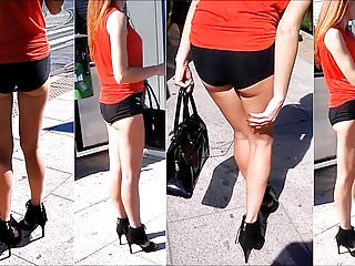 Sexy ladies in heels and shorts 95 girl with sexy legs in mini shorts and high heels