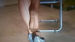 REAL NYLONS AND PLAYING WITH THE PEEP TOES Part Two