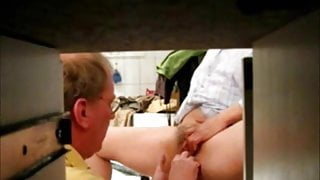 Dad fingers Step Mom's cunt and ass