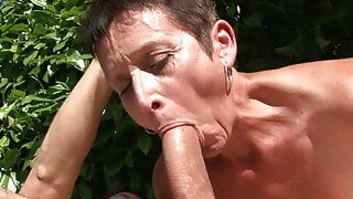 Mature housewife MILF gangbang orgy with BBC