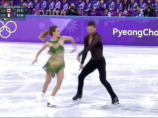Nude ice skate Olympic figure skating oops
