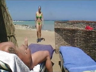 Outdoor nude shemales - Nude beach - hot pierced big boob brunette blowjob