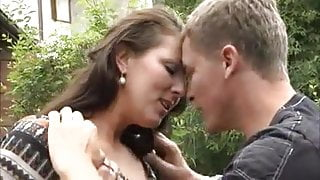 German Mom Outdoor Strong Sex