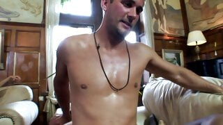 A group of horny men and babes have a fuck orgy at a mansion