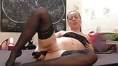 Big black dildo in ass