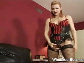Spank sex torture wife - Super sexy femdom torturing a guy