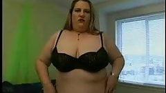 American Blonde BBW strip and masturbate