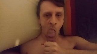 UK boy gets a facial after sucking (POV)