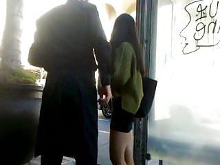 Asian art on black background Bootycruise: asian babes leg art 5 - black skirt