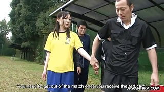 Red card means she gets fucked and facialised