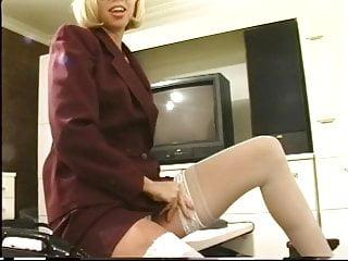 Sex girls revenge of the nerds - Blonde nerd sticks a dildo up her pussy in the living room