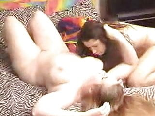 Girl fucked with strap on Bbw lesbian fucked with strap-on