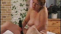Granny Gets Help with her Dildo