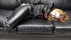 Leather pants on Leather sofa