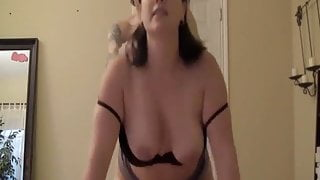 Hot big titty milf takes a sweet load on her juicy tits