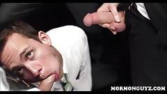 Mormon Twink Sucks Off Three Men In Dark Secret Room