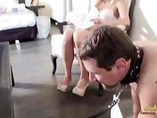 Cum lick shoes Alpha male gets shoes licked clean by male sub