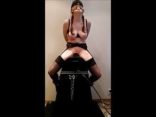 Have fuck Having fun with my slave on a sybian
