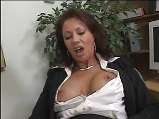Fucked getting movie pussy wet Gorgeous mature milf fingers her wet box in an office then gets fucked