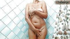 Lukerya in the shower