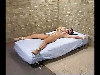 Buxom brunette cum Buxom bed bound 2