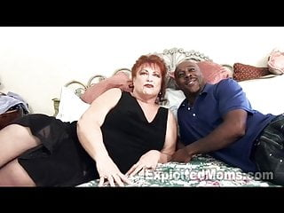 Interracial grandmas - Grandma gets pussy pounded by big black cock