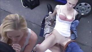 Foursome in public