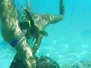 Water anal Couple teen anal fuck in water in sea